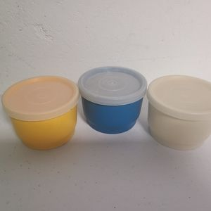 3 small Tupperware containers